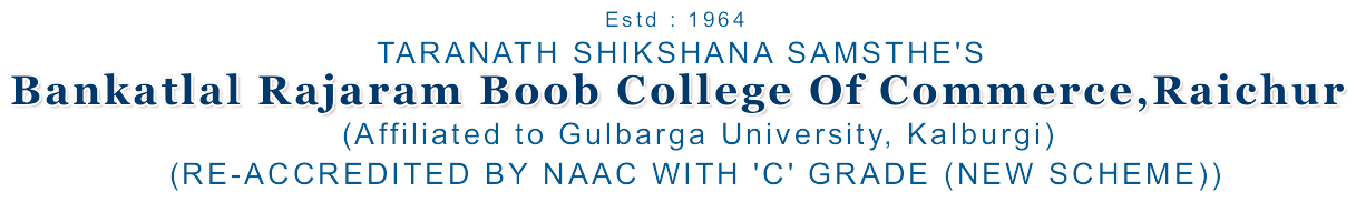 BRB College of Commerce, Raichur Logo